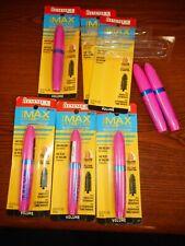 Lot Of 6 Rimmel The Max Volume Flash Waterproof Mascara 001 Black *2 Imp Pkg*