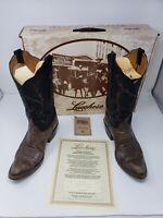 Lucchese Classics Women's Brown/Black Ranch Hand Boots boots 7.5 B Glove Calf