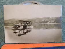 ORIG 4x6.5 PHOTO 1914 McCormick flying boat Airplane biplane aviation seaplane