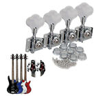 4pcs Chrome Bass Guitar Machine Heads Knobs Tuners Tuning Pegs Guitar Parts
