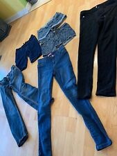 Girls denim jeans jean shorts Leggings Lot sz 12