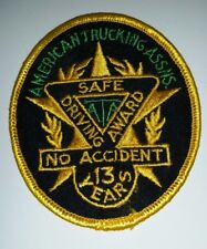 Embroidered Patch American Trucking Assns. Safe Driver Award 13 Years