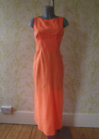 MOSCHINO CHEAP & CHIC sherbet orange ramie maxi dress, unworn, UK10