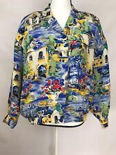 Natalie & Me Women's Lined Jacket 100% Silk Multi Color Size Petite Large