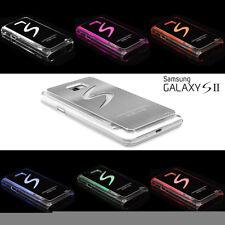Samsung Galaxy S2 i9100 Tapa Trasera Funda para Móvil Plata Con Luz LED