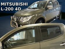Mitsubishi L-200 4door double cab 2015-up  wind deflectors 4pc set TINTED HEKO