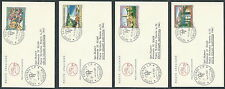 1981 ITALIA FDC CAVALLINO TURISMO 4 BUSTE TIMBRO ARRIVO - EDG37