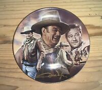 """The Man And The Legend John Wayne- Hero for a Century 8.5"""" Collectible Plate"""