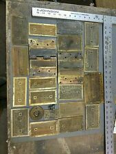 Vintage Hardware Brass Door Hinges Salvage Lot Art Deco Plates