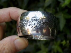 Vintage WW2 RAF ROYAL AIR FORCE 'Pilot Wings' Silver Plated Napkin Ring