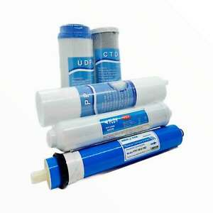 5 Stage RO Water Filter Cartridge Replacement Pack Reverse Osmosis Home System