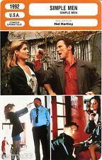 Fiche Cinéma. Movie Card. Simple men (USA) Hal Hartley 1992