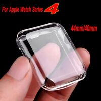 Apple Watch Series 4 Case Tpu Screen Protector Around Ultra Thin Clear Cover