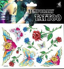RosenTattoo 1 Bogen Fake Tattoo einmal Tattu tatoo tatto temporary Schmetterling