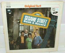 Vintage 1970s Sesame Street Lp Record & Book Set Original Cast