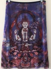 Mint Vivienne Tam Sz 1 Hindu Goddess Mesh Nylon Skirt