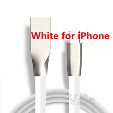 Zinc Alloy Flat PVC Wire Data Sync USB Charger Cable for iPhone 5 5S 6 6S 7 Plus