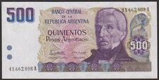ARGENTINA  500  PESOS  ARGENTINOS 1984  Suffix A - P 316  Uncirculated Banknotes