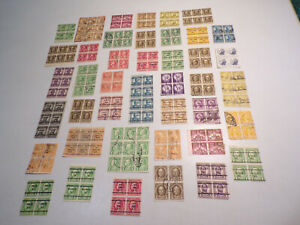 Hard to Find Lot of Old Used Off Paper U.S.Blocks with Many Pre-Cancels