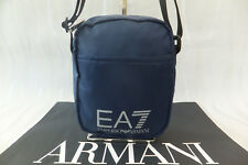 Emporio Armani Genuine Blue Polyester Mens Train Prime Cross Body Bag BNWT