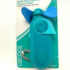 O2Cool Sport Misting Fan Battery Operated Carabiner Portable Teal