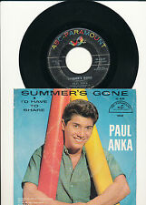 """7"""" - PAUL ANKA-Summer 's Gone/i' d have to share-ABC 10147-US 1960"""