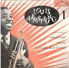 45T EP: Louis Armstrong: saint-louis blues + 2 titres. fontana