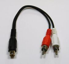 2 Pack RCA Jack Female to 2 RCA Plug Male Y Splitter Audio Video Adapter Cable