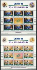UN - NY+GEN+VIE . 1996 UNICEF Sheets (6) . Mint Never Hinged
