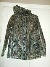 Womens Topshop zebra print plastic mac jacket coat size 6 UK 34 Eur