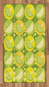 Lemons Area Rug Decorative Flat Woven Accent Rug Home Decor in 2 Sizes