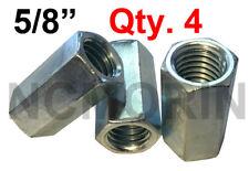 Qty 4 Hex Rod Coupling Nuts 5/8-11 x 2-1/8 Threaded Rod Connectors Zinc Coupler