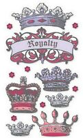 ROYALTY CROWNS Dimensional - Sticko Stickopotamus Scrapbooking Craft Sticker