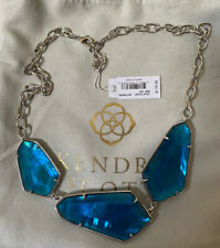 NWT Kendra Scott Violet Statement Necklace In Peacock Blue $178.00