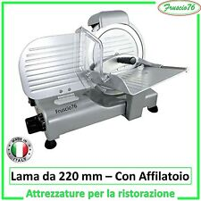 Affettatrice Elettrica LUSSO 22 GS RGV Affilatoio LAMA SEMI Professionale 140 W