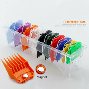 US 10Pcs Premium Hair Clipper Limit Cutting Guide Comb Guards Tool Set For WAHL