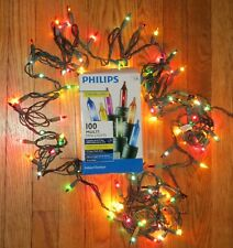 Philips 100  Multi Mini Holiday Christmas Lights Green Wire 24.7ft  Twinklers #1