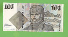 1985 TYPE  JOHNSTON/FRASER  AUSTRALIAN  PAPER $100 BANKNOTE  ZCG 001388