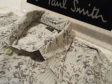 """PAUL SMITH Mens Shirt 🌍 Size L (CHEST 42"""") 🌎 RRP £95+ 🌏 FLORAL AND STRIPES"""