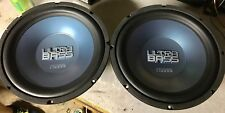 "NEW Pair Old School Phase Linear Ultra Bass 12"" Subwoofer,Rare,NOS,NIB"