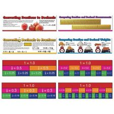 Comparing Fractions and Decimals Mini Bulletin Board Set Carson Dellosa CD-41007