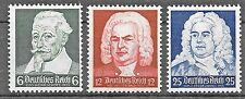 Germany Third Reich Mi# 573-575 MH 1935 Musician's Anniversaries  *
