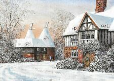 HEART OF KENT HOSPICE CHARITY CHRISTMAS CARDS : KENT IN THE SNOW 10 PK