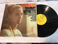 Tammy Wynette DIVORCE Record Vinyl on Epic Very Good