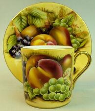 """Una fina Porcelana Aynsley 'Orchard oro """"del gabinete Copa Y PLATILLO"""