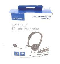 GENUINE Insignia Landline Phone Hands-Free Headset Reversible Mic - NS-MCHMRJ9P2