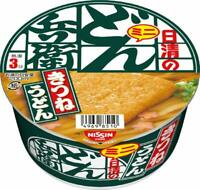 Nissin Donbe mini KITSUNE Udon 42g×12 Japanese Instant Noodles Cup Ramen Japan