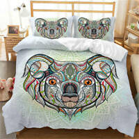 Art Painting Of Niutou Ghost 3D Quilt Duvet Doona Cover Set Pillow case Print