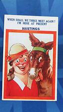 Bamforth HASTINGS Comic Postcard 1920s SEASIDE DONKEY Theme