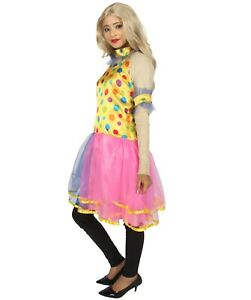 Adult Women's Circus Clown Party Dress Costume | Multi Color Costume HC-717
